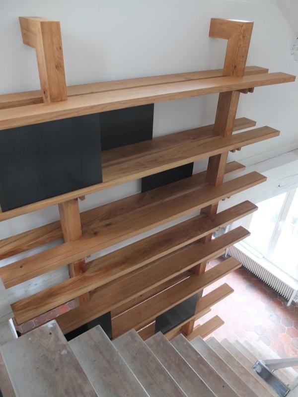 biblioth que escalier nicolas buffel. Black Bedroom Furniture Sets. Home Design Ideas